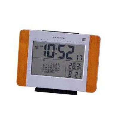 ADESSO/アデッソ カレンダー電波時計 日付表示/温度表示/デジタルカレンダー
