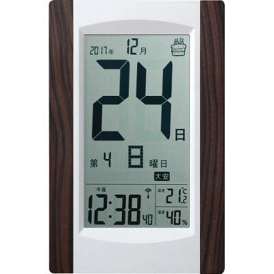 アデッソ  デジタル日めくり電波時計 KW9256(1コ入)