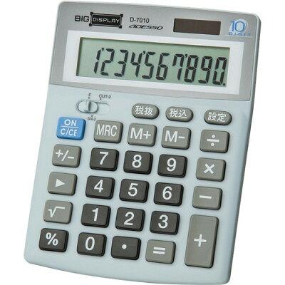 ADESSO(アデッソ) ビッグディスプレイ卓上電卓 10桁税計算 D-7010(1台)