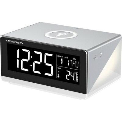 ADESSO(アデッソ) ワイヤレススマホ充電時計 スペースグレー QA-02SG(1個)