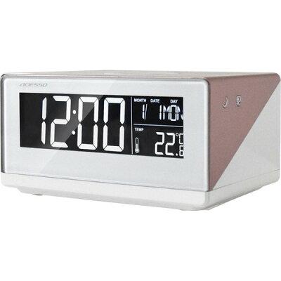 ADESSO(アデッソ) ワイヤレススマホ充電時計 ローズゴールド QA-02RG(1個)
