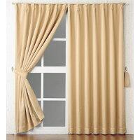 形状記憶・1級遮光ドレープカーテン (タリア)(HK) サイズ:200×90c カラー:ブラック