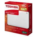 東芝 ポータブルハードディスク CANVIO CONNECT ホワイト HD-PF50GW(1コ入)