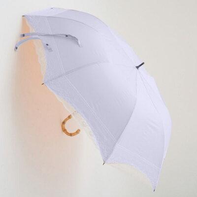 ヒュッゲ C/C ハイレグレース 全3色 ショートワイド傘 手開き 日傘/晴雨兼用 ピンク 8本骨 55cm コンパクトな手元伸縮傘 グラスファイバー骨 竹製ハンドル 27304