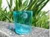 琉球ガラス 潮騒ロックグラス 水緑 琉球グラス