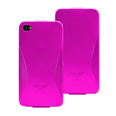 Maclove iPhone4用PCハードケース Challenger case Silver Light ピンク Challenger-SilverLight-pk