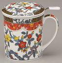 茶こし付マグカップ 花鳥 おひとり様カフェをゆっくり楽しめる