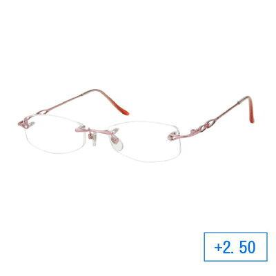 パーフェクトシニアグラス 老眼鏡 RH-401 レディース +2.50 ピンク