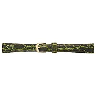 セイコー 婦人用牛革ワニ型押 切身はっ水ステッチ付 DE94 緑