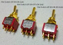Montreux Mini Switch 6P ON-OFF-ON Gold No.1425 ギターパーツ