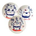 福猫小皿 3柄アソート K6273
