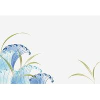 若泉漆器 上質紙マット 尺3寸長手テーブルマット 吉祥紋シリーズ 葦と波 あしとなみ 100枚入 B-26-37