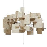 キューブ cube ペンダント照明 Soliwood ソリウッド 3灯-常夜灯 ホワイトオーク CPL-3562-WO