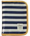 アビックス マミールナ 母子手帳ケース ボーダー柄 l ネイビー ポリオックス&pvc 759251