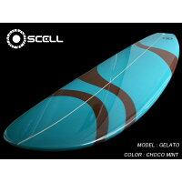 6'8ファンボードGLT青 サーフボード SCELL サーフィン