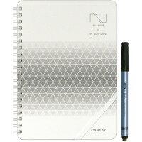 CANSAY nu board A5 SHOTNOTEタイプ White & Grid Edition シルバー