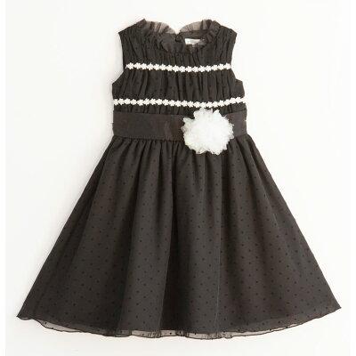 子どもドレス ブラックギャザードレス ワンピース 子供ドレス