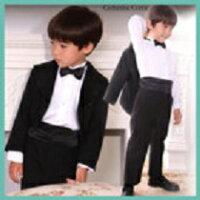 子供ドレス 子供タキシード 5点フルセット スーツ ベビー 燕尾服 フォーマル 男の子