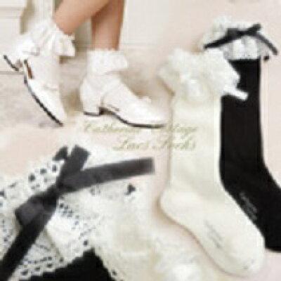 子供ドレス 日本製トーションレース子供用ソックス ハイソックス/ショートソックス