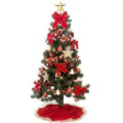 クリスマスツリー セット   飾り付 レッド&ゴールド ツリーセット