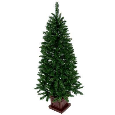 クリスマスツリー   木製ポットツリー スリム グリーン ツリーの木ヌードツリー xjbc
