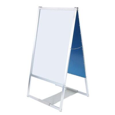 転倒防止板付90サイズA型看板両面ホワイトボード風で倒れないA型看板 WB-8026R