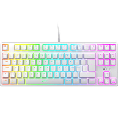 Xtrfy XG-K4-RGB-TKL-WH-UK  テンキーレス ゲーミングキーボード