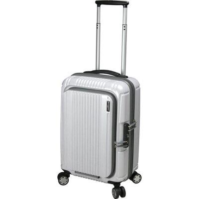 BERMAS/バーマス 60261 FRONT OPEN フロントオープン ファスナー54 スーツケース ホワイト 旅行 キャリー 機内持ち込み 小さい 国内 Sサイズ