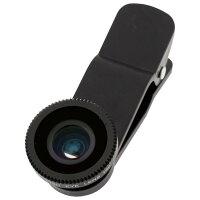 サンコー インカメラも利用できるクリップ式広角レンズ2 黒 CLPWIBKN