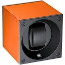 スイスキュービック SWISS KubiK ワインディングマシーン ウォッチワインダー 1本 アルミニュームコレクション オレンジ SK01.AE010
