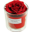 プリザーブドフラワー アロマグラスモノ レッド ストロベリーの香り