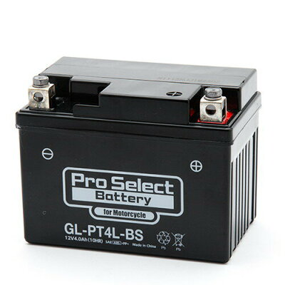 プロセレクト バイクバッテリー GL-PT4L-BS YT4L-BS互換 ジェルタイプ液入充電済み