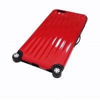 ノーブランド iphone6Plus TPUスーツケースカバー レッド