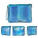 MohzyHellofame Aurora Clutch Bagオーロラクラッチバッグfor Tablet / iPad AiriPad mini各種iPadタブレットPC  Blue F0059F13-BLUE