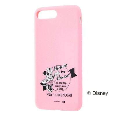 AppLe iPhone8PLus/iPhone7PLus ディズニー/シリコンケース ミニー RT-DP15E/MN(1コ入)