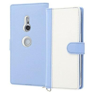 Xperia XZ3 手帳型ケース ノーブル/ブルー/ホワイト RT-RXZ3LBC10/AW(1コ入)