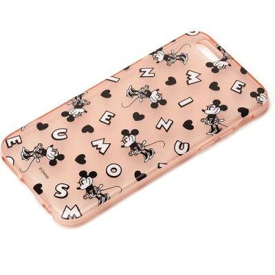 iPhone6用 セミハードケース ミニーマウス ラメ入り半透明 PG-DCS856MNE(1コ入)