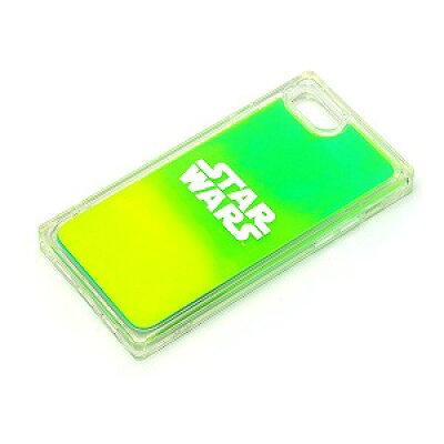 PGA iPhoneSE(第2世代)用 ネオンサンドケース ロゴ/グリーン イエロー PG-DLQ20M15SW