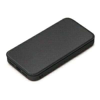 PGA iPhone12/12Pro用 ガラスタフフリップカバー PG-20GGF01BK