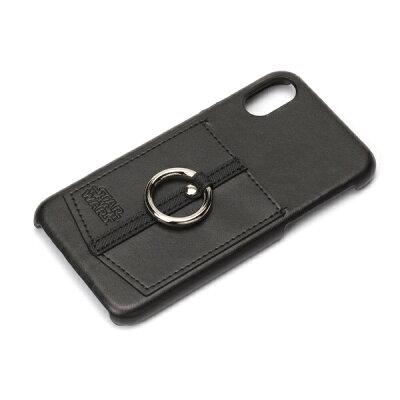 PGA  iPhone X用 ハードケース ポケット リング付き PG-DCS360SW