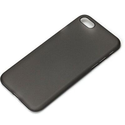 iPhone7用 ポリプロピレン スーパースリムケース クリアブラック PG-16MSL02BK(1コ入)