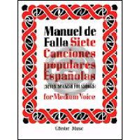 楽譜 M.ファリャ 7つのスペイン民謡