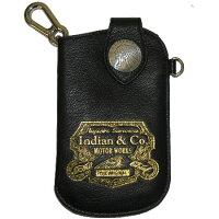 スマートフォンケース Indian:インディアン PLUS 携帯カバー カラー:ブラック ゴールド