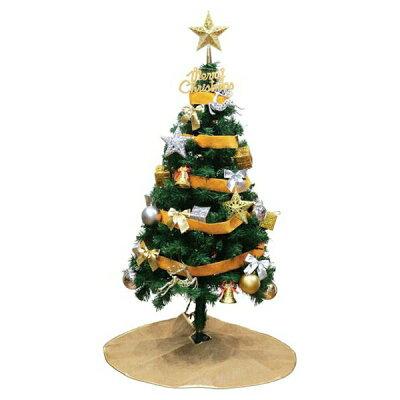 クリスマスツリー   ledライト付  類のオーナメント付