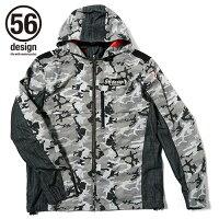 56design 56デザイン ライディングジャケット 56 S-Line Cotton Parka MD コットンパーカー サイズ:L