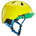 子供用 ヘルメット Sサイズ/Mサイズ 51.5~54.5cm グロス イエロー グリーン バイザー