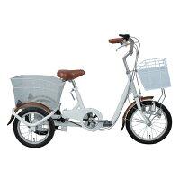 SWING CHARLIE スイングチャーリー ロータイプ三輪自転車 ホワイト MG-TRE16SW-WH