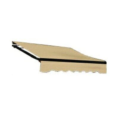 オーニングテント 幅4m×張出2.5m 黒フレーム 折り畳み 伸縮 巻き上げ式 日除けテント