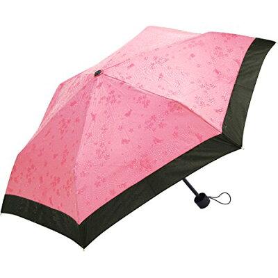 サントス 撥水すると柄が浮き出る 折りたたみ傘 50cm 桜うさぎ ピンク JK-75-03