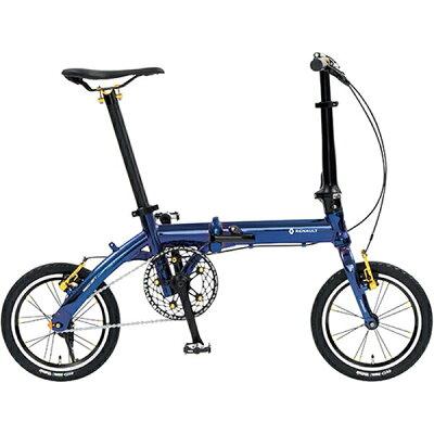 ルノー 14型 折りたたみ自転車 MIRACLE LIGHT6(オーロラブルー/シングルシフト)11293-03